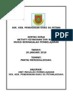 Kertas Kerja Program Keyakinan Diri 2016