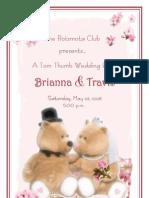 Tom Thumb Wedding Program