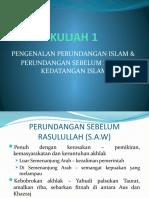 01 Pengenalan Perundangan Islam & Perundangan Sebelum Zaman Kedatangan Islam