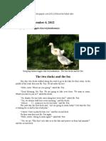 Dongeng Bahasa Inggris Dan Terjemahannya