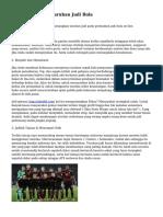 Tips Memenangi Taruhan Judi Bola