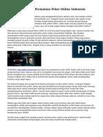 Tips Menang Pada Permainan Poker Online Indonesia
