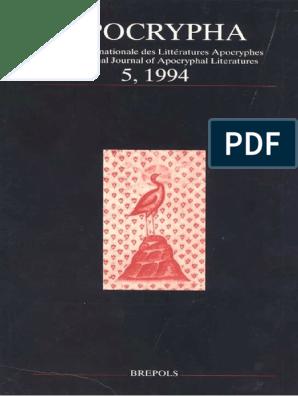 Apocrypha 5 1994 Pdf Livre De La Revelation Evangile Selon Matthieu