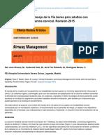 anestesiar.org-Evaluación clínica y Manejo de la Vía Aérea para adultos con inestabilidad de la columna cervical Rev