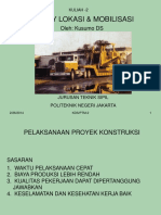 Survey Lokasi & Mobilisasi