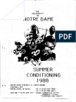 1988 Notre Dame Summer Conditioning