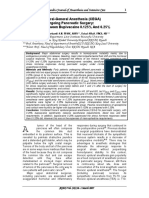 [2007] Combined Epidural-General Anesthesia (CEGA) in Patients Undergoing Pancreatic Surgery
