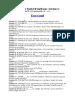 BSOP 434 Week 8 Final Exam (Version 2)