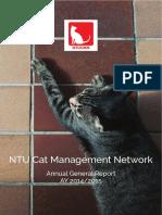 NTU Cat Management Network Annual General Report for Academic Year 2014/2015