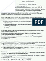 Examen Fisica II Campo Eléctrico
