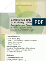 Compliance outline
