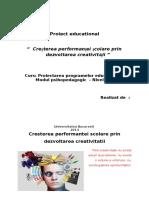 Proiectarea Programelor Educationale - Structura Proiectului