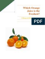 8th Grade Science Fair- Which OJ is Freshest?