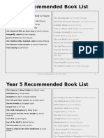 recommended book lists