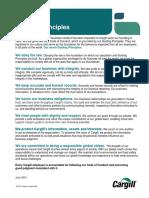 Cargill - Guiding Principles