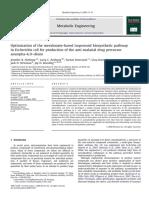 (2009, Anthony Dkk) Optimization of the Mevalonate-Based Isoprenoid Biosynthetic in E Coli for Production Amorpha-4,11-Diene