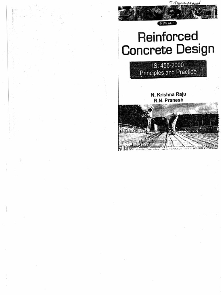 design of reinforced concrete structures by krishna