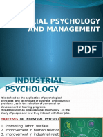 Industrial psychology and management