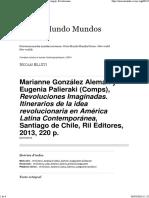 Marianne González Alemán y Eugenia Palieraki (Comps), Revoluciones Imaginadas