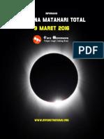 Informasi Gerhana Matahari Total 9 Maret 2016