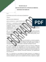 Proyecto de Ley Educacion - Borrador Final