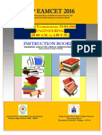 Eamcet Instruction Booklet
