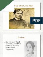 Trivias About Dr. Jose Rizal