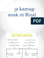 mga kamag-anak ni Rizal