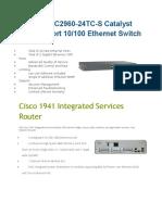 Cisco Specs