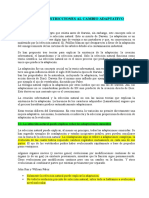 TEMA 6. Restricciones Al Cambio Adaptativo