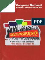 Convocatoria al XXV Congreso Nacional del Partido Comunista de Chile