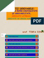 Functii Derivabile Legatura Intre Continuitate Si Derivabilitate Derivate Laterale Derivate de Ordin Superior (1)
