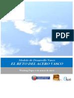 Modelo de Desarrollo Vasco. EL RETO DEL ACERO VASCO