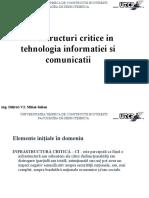 Infrastructuri Critice 2010 Sinteza
