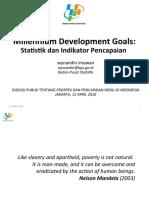 STATISTIK UNTUK MDGs