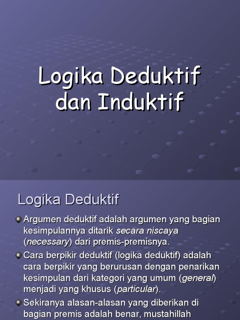 Sap 7 Tambahan Logika Deduktif Dan Induktif