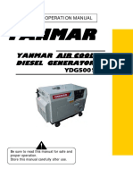 Yanmar Air Cooled,Diesel Generator YDG5001SE