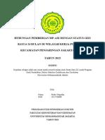 Hubungan Pemberian MP-ASI dengan Status Gizi bayi 6-24 Bulan di wilayah kerja Puskesmas Penjaringan Jakarta Utara tahun 2015