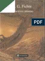 Johann Gottlieb Fichte - Doctrina Stiintei
