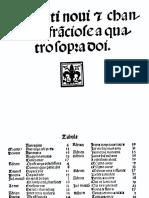 Andrea Antico, Motetti novi e chanzoni franciose a quatro sopra doi