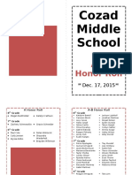 honor roll dec  program