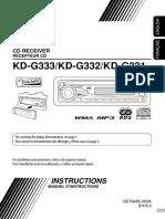 JVC KD-G333/KD-G332/KD-G33131