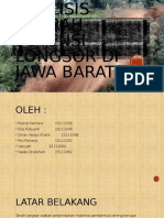 Analisis Daerah Potensi Longsor Di Jawa Barat