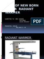 Radiant Warmer Ppt