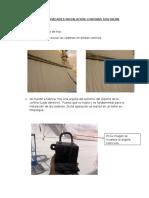 Informe Actividades Instalación Cortinas Southern