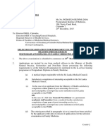 Diploma in Family MEdicine Circular