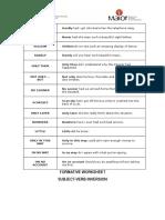 Worksheet Sub Verb Inversion