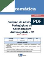 Matematica Regular Professor Autoregulada 3ano 2bimestre