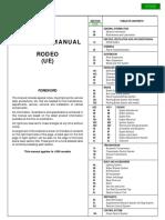 1999 Isuzu Rodeo UE US Version Service Manual