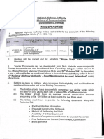 Tender Notice for Bc 2012 13 Hq 01 Construction of 4th Floor Building of Nha Headquarters 1